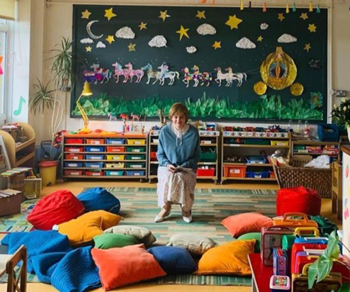 Princess Diana in nursery school teacher mode.