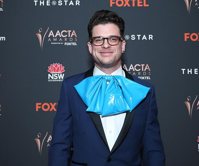 Best Online Drama or Comedy nominee for his web series *Ding Dong I'm Gay*, Tim Spencer, also got the oversized bow memo!
