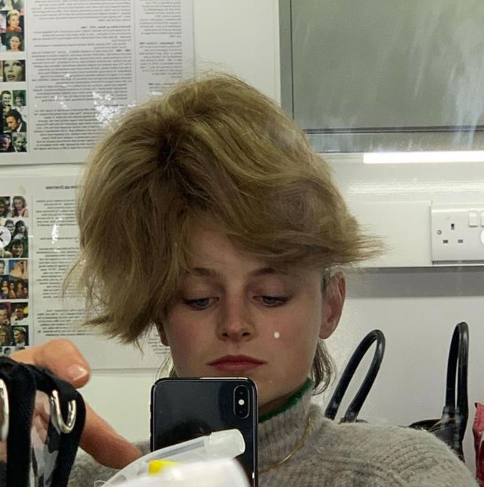 Emma's Diana wig goes rogue!
