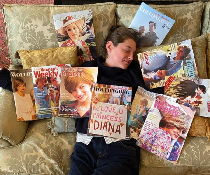 """Can you spot the two issues of [*The Australian Women's Weekly* among the magazine haul?](https://www.nowtolove.com.au/royals/british-royal-family/charles-diana-australian-tour-1983-65910 target=""""_blank"""")"""