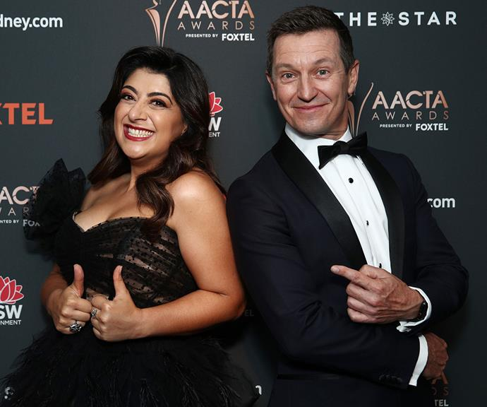 Hosts with the most Susie Youssef and Rove McManus strike a pose.