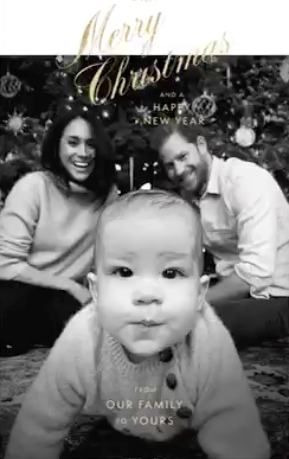 "In 2019, Duchess Meghan and Prince Harry switched things up a tad with this [gorgeous e-card](https://www.nowtolove.com.au/royals/british-royal-family/prince-harry-meghan-markle-archie-christmas-card-61937|target=""_blank"") (a very eco-friendly choice) - fans were thrilled to see little Archie front and centre as his parents joyfully look on."