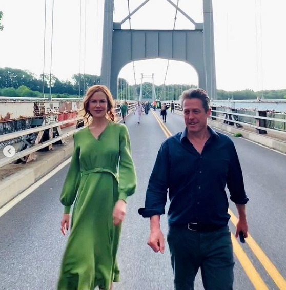 Nicole shared this candid snap with Hugh Grant.