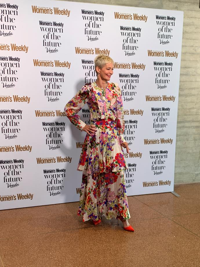 Florals appeared to be the trend of the day! Journalist Jessica Rowe also rocked a flowery look.
