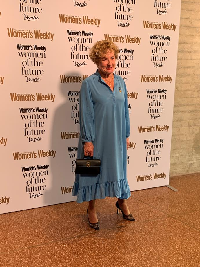 Renowned author and actress Judy Nunn looked gorgeous in periwinkle blue for the event.
