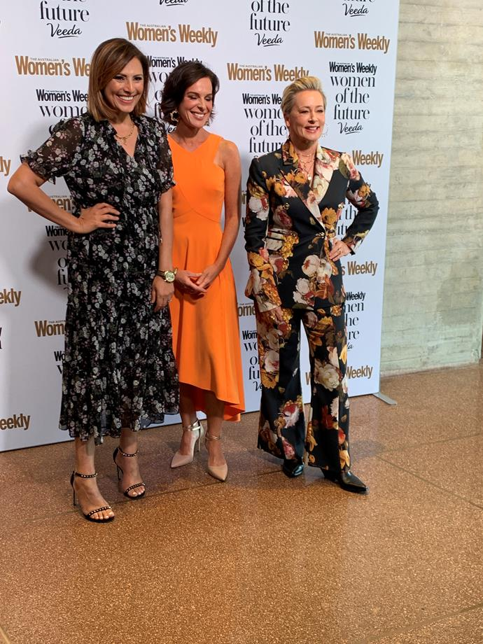 Sally was joined by fellow TV icons Natarsha Belling and Amanda Keller.