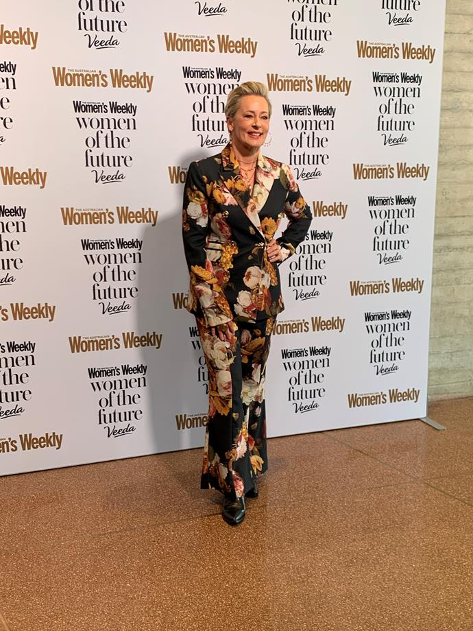 WOTF judge and WSFM's Amanda Keller opted for a funky floral ensemble.