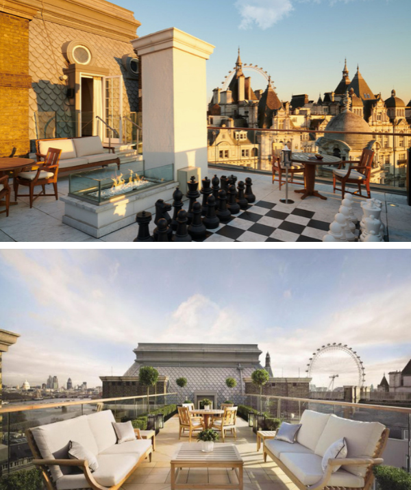 Featuring four bedrooms, four bathrooms, huge roof terrace and views across London's iconic River Thames, it's no wonder the rent costs a staggering $455,000 a month.