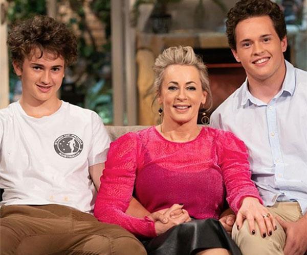 Amanda's sons Jack (left) and Liam.