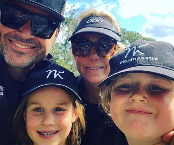 Miguel with wife Sascha and kids Claudia and Morgan.