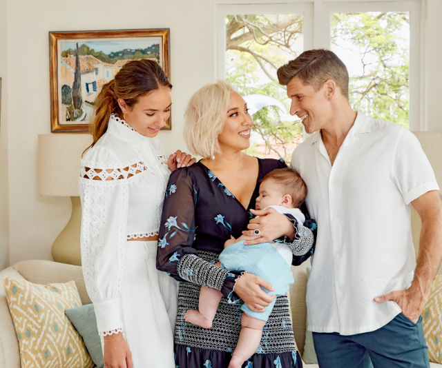 Osher with his wife Audrey Griffen, stepdaughter Georgia and son Wolfie.