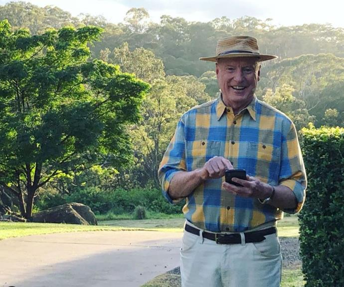 Alf Stewart's usual attire is a wide-brimmed hat, chequered shirt and beige slacks.
