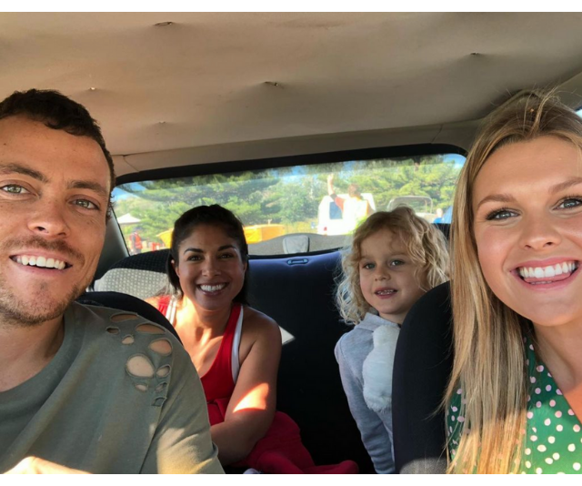 The cutest lil' fam, out for an adventure!