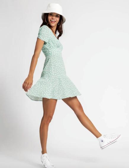 "Glue Store Clara Floral Mini Dress in Mint, $69.95. [Buy it online here](https://www.gluestore.com.au/products/clara-floral-mini-dress-in-mint|target=""_blank""|rel=""nofollow"")."