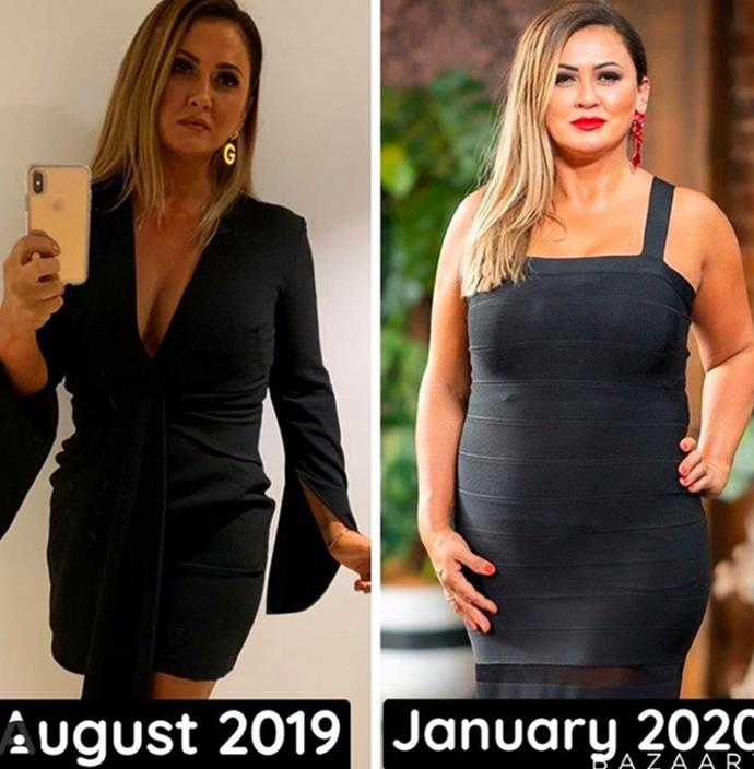 In April, Mishel shared these two images as she revealed she currently weighed the same as right before she gave birth to her daughter. The reality star made a pledge to shed the 13-kilos she gained while on *MAFS* and has stuck to her word.