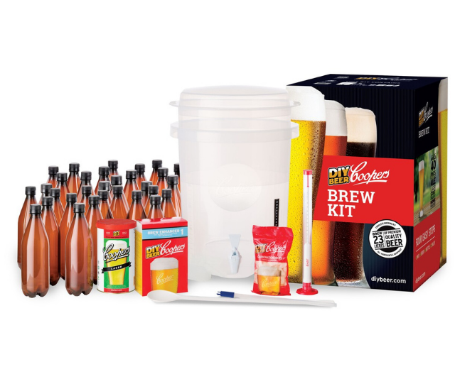 "**Coopers [DIY home brewing kit](https://www.danmurphys.com.au/product/DM_730573/coopers-diy-home-brewing-kit|target=""_blank""), $119**<br> Instead of buying him another case of his favourite beer this Christmas turn his beloved drop into his new hobby and have him brew his own frothy ones."