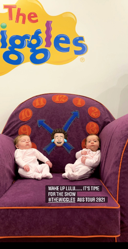 In December, Lachy's gorgeous twins had an, er, mixed response to the impending Wiggles tour...