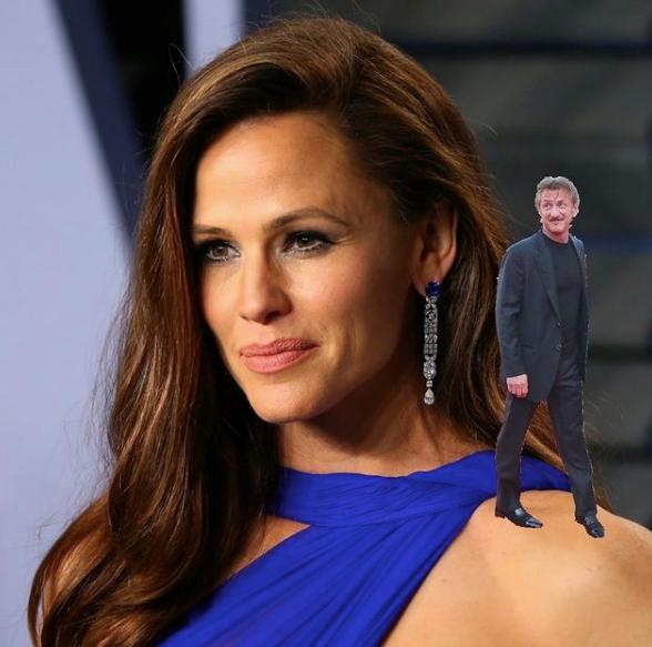 Sean Penn on Jen...nifer Garner. We see what she did there.
