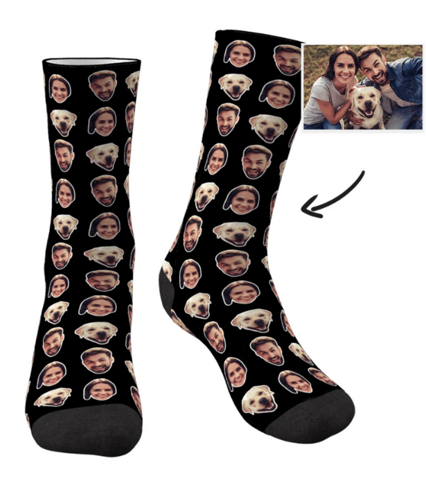 "**My Photo Socks [Personalised socks](https://myphotosocks.com.au/collections/standard-socks/products/custom-colorful-photo-personalizedsocks-with-your-photo-two-faces?variant=32728137859147|target=""_blank""