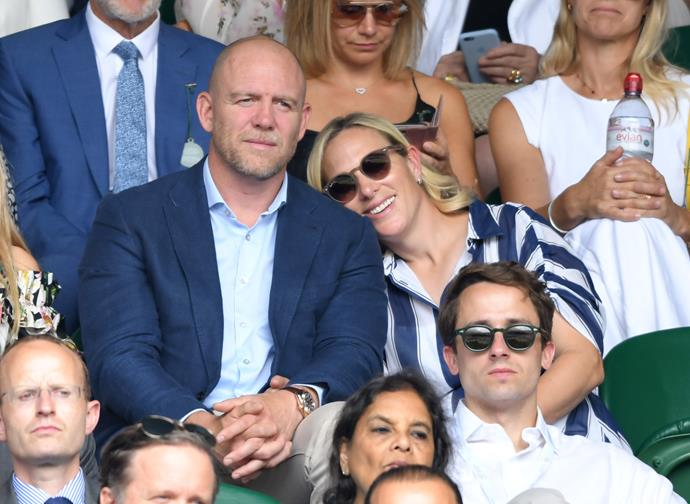 Mike Tindall announced Zara was pregnant with her third child on his rugby podcast.