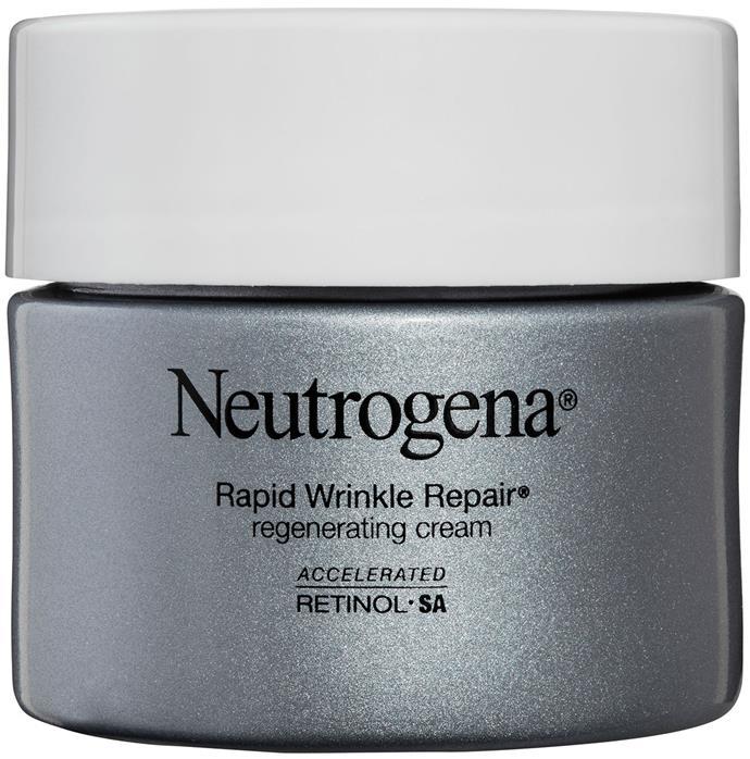 Kiss goodbye wrinkles with Neutrogena's Rapid Wrinkle Repair Regenerating Cream. ($48.99 for 48g).