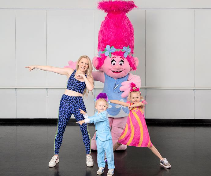 So you think you can dance? The 33-year-old is the ambassador for the release of *Trolls World Tour Dance Party Edition*.