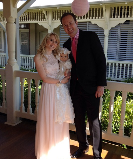 In happier times: Nikki Webster with her daughter Skylah and estranged husband Matthew McMah.