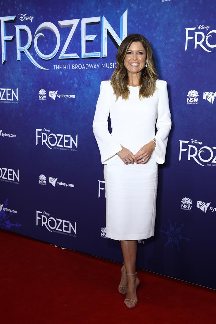 "Don't mention [the white jacket!](https://www.nowtolove.com.au/news/local-news/9-news-presenter-massive-meltdown-over-outfit-32767|target=""_blank"") Channel Nine presenter Amber Sherlock opted for a very on-brand white dress, complete with flared sleeves."