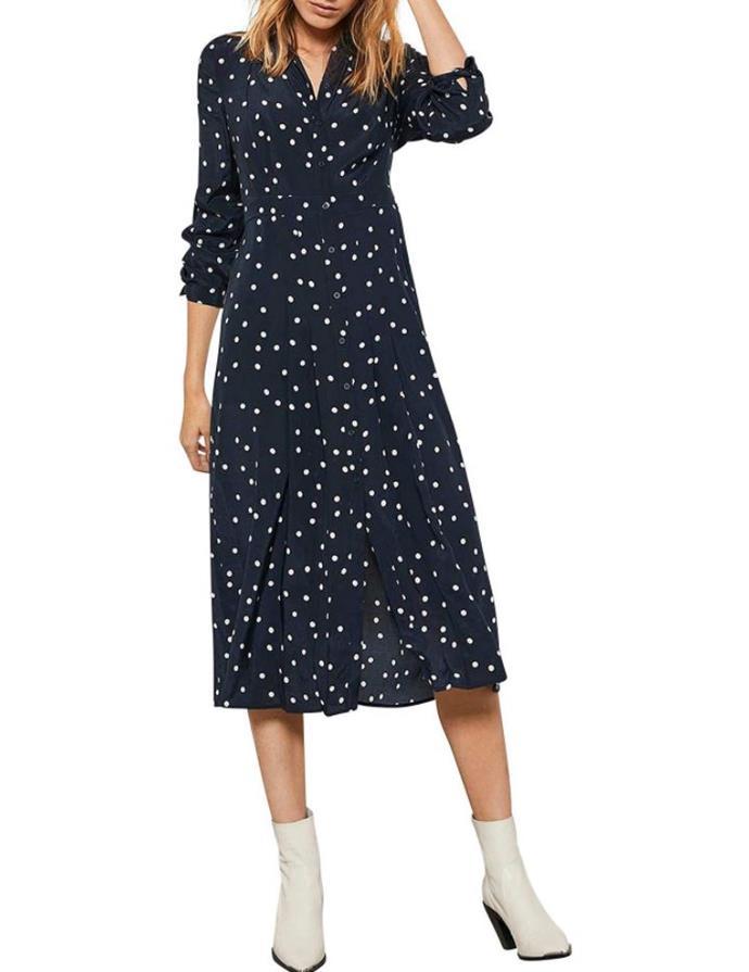 "Mint Velvet spotted shirt midi dress, $129 (on sale). **[Buy it online via David Jones here](https://www.davidjones.com/Product/23338778|target=""_blank""|rel=""nofollow"").**"
