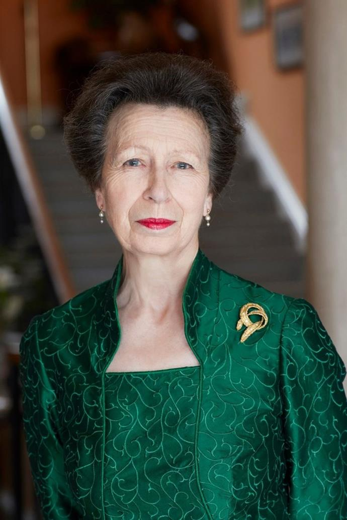 Anne, Princess Royal, teamed poise and a bold colour palette to see in her 70th.