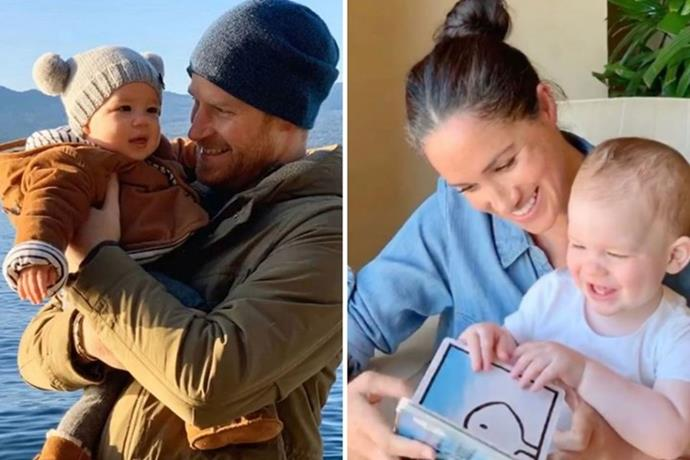 To celebrate his first birthday, the Sussexes shared a fun video of Meghan reading to her sweet son.