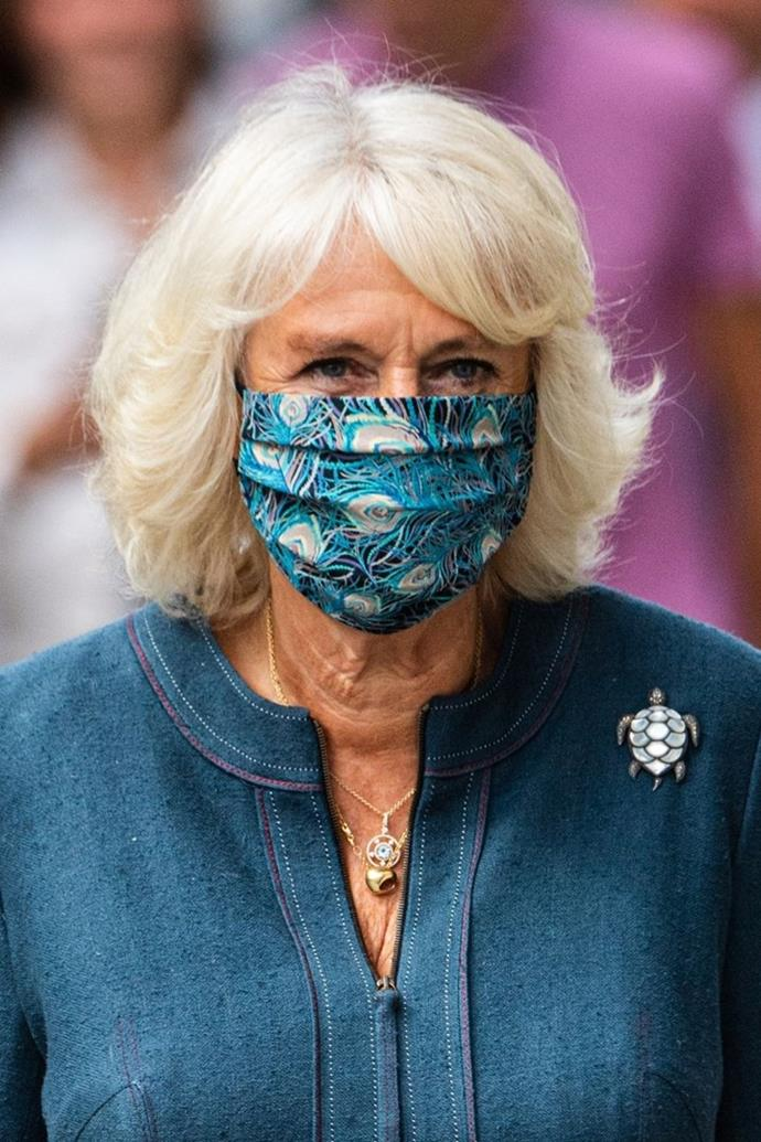 We got used to seeing royals like Camilla masking up for events.