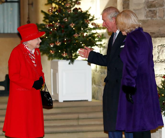 Prince Charles and Duchess Camilla meet with The Queen in Windsor, England at the end of Prince William and Duchess Catherine's royal train tour of the United Kingdom.