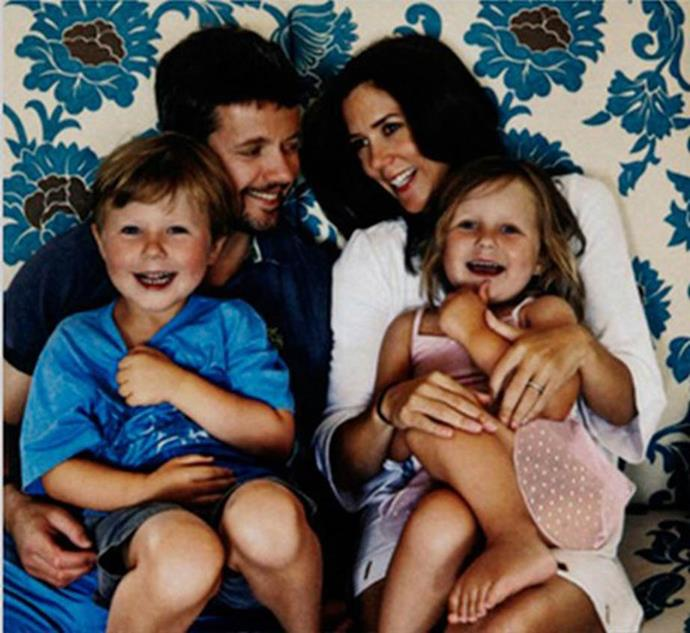A family affair: Princess Mary and Prince Frederik and their children Christian and Isabella in 2009.
