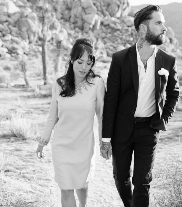 Melissa shared this snap from her Californian wedding.