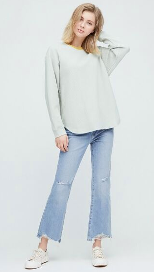 "Uniqlo High Rise Skinny Flare Ankle Jeans, $59.90. **[Buy them online here](https://www.uniqlo.com/au/store/women-high-rise-skinny-flare-ankle-jeans-4255170016.html#colorSelect|target=""_blank""