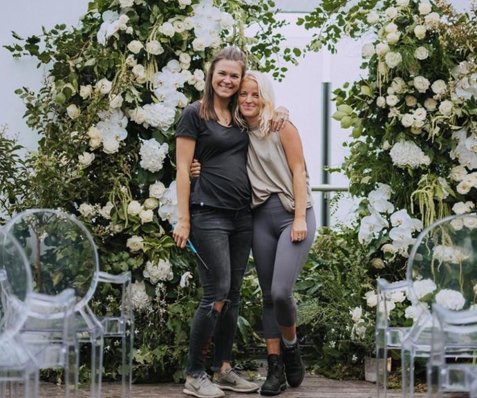 Rachel, right, runs Hygge Studio, a wedding planning business.