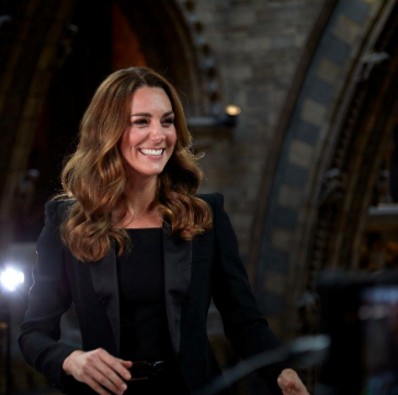 """And then there was the black blazer. Oh yes, one of Kate's most heavenly event ensembles came in the form of this satin-lapelled-product-of-pure-GLORY. The event in question was at [London's Natural History Museum](https://www.nowtolove.com.au/royals/british-royal-family/kate-middleton-black-blazer-65600