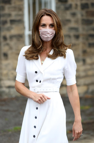 """In August, Kate [stepped out to visit Baby Basic UK & Baby Basics Sheffield](https://www.nowtolove.com.au/royals/british-royal-family/kate-middleton-baby-bank-64820