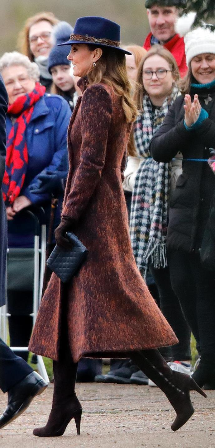 """Kicking off the year in style, Kate gave us a taster of what was to come with this perfectly put together [winter outfit.](https://www.nowtolove.com.au/royals/british-royal-family/kate-middleton-prince-william-church-sandringham-62003