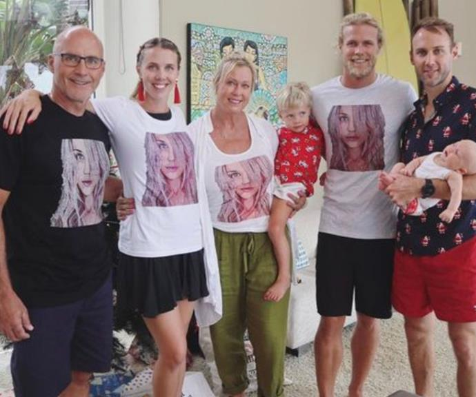 On Christmas Day, Grant, Morgan, Lisa and Jett all donned their special Jaimi T-shirts.