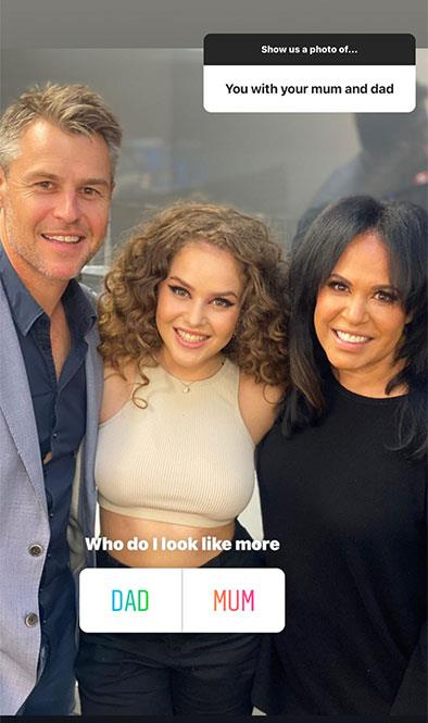 Zipporah has shared this never-before-seen photo with her A-list parents, Rodger Corser and Christine Anu.