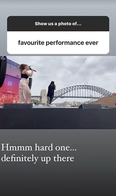 Zipporah and Christine take to the stage during an Australia Day concert at the Sydney Opera House.