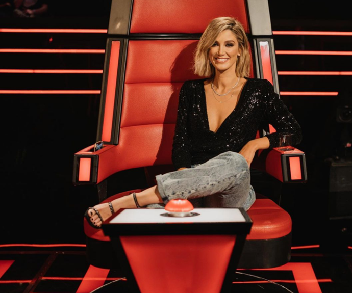 Delta announced her exciting news and said goodbye to the big red chair.