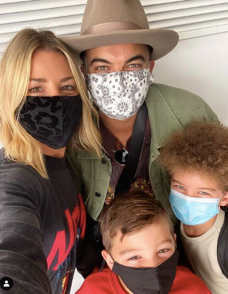 The family masked up with the rest of the world in 2020 - family (and safety) first where these guys are concerned.