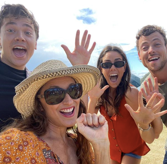 Georgie loves to share her behind the scenes snaps from the *Home and Away* set.