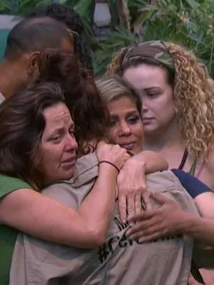 The Aussie comedian bid a sad farewell to her campmates.