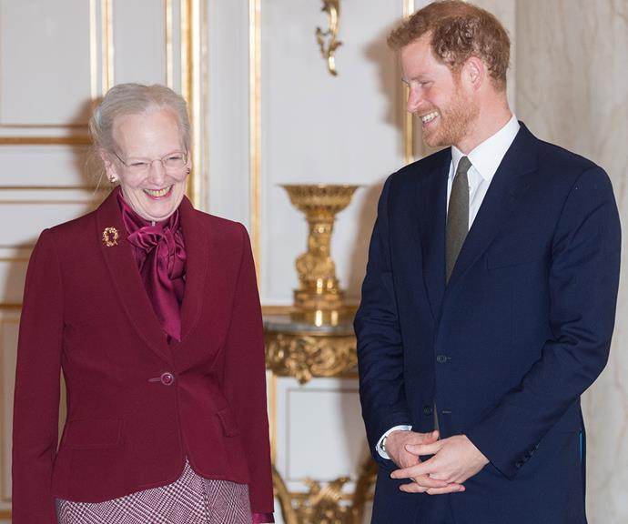 Considering how close Prince Harry is with his own grandmother, it was touching to see such a familiar ease play out between the 36-year-old and Queen Margrethe during a visit to Copenhagen in 2017.