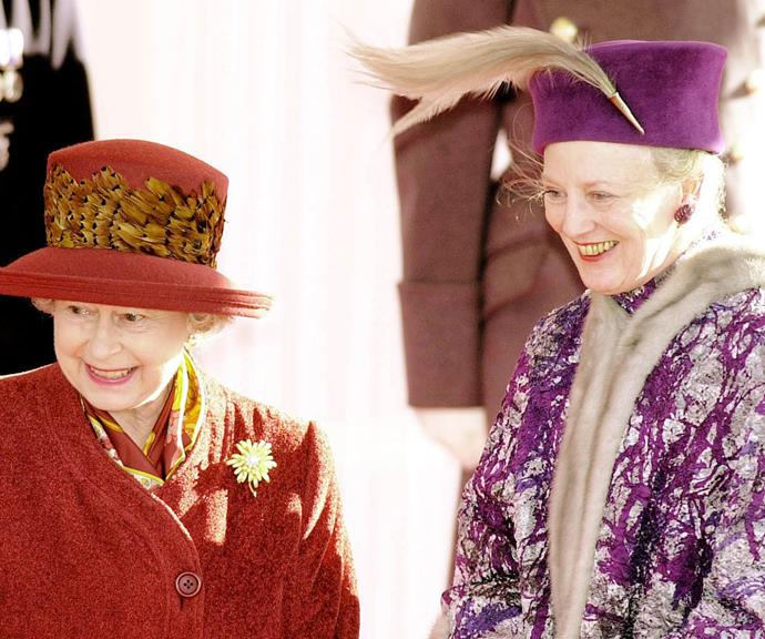 Queen Elizabeth shares a special bond with Queen Margrethe of Denmark. The pair are in fact third cousins and keep in regular contact.