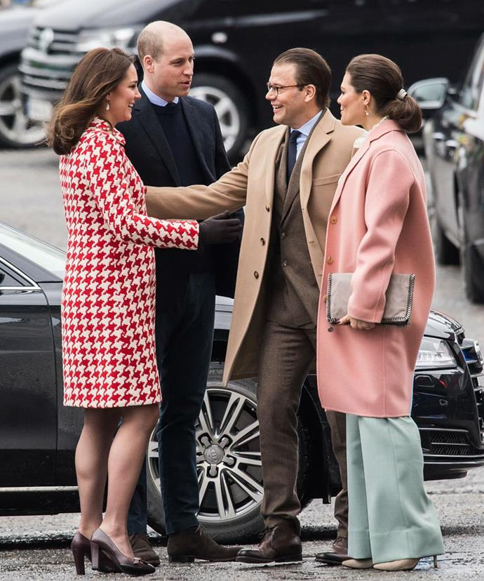 """Firm friends! Duchess Catherine and Prince William got on famously with Princess Victoria and Prince Daniel of Sweden [during their royal tour of Sweden in 2018.](https://www.nowtolove.com.au/royals/british-royal-family/duchess-catherine-channels-late-mother-in-law-in-sweden-44638